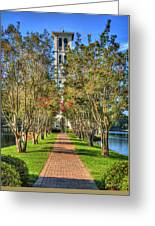 Sounds Of Victory The Bell Tower Furman University Greenville South Carolina Art Greeting Card