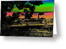 Soundside Treehouse View Greeting Card