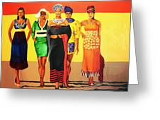 South African Beauties Greeting Card