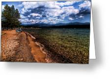South Beach At Priest Lake Greeting Card