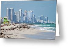 South Beach Baby Greeting Card