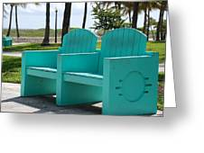 South Beach Bench Greeting Card