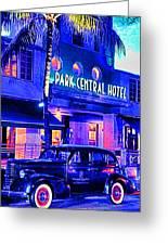 South Beach Hotel Greeting Card