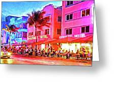 South Beach Neon Greeting Card