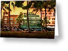 South Beach Ocean Drive Greeting Card