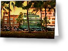 South Beach Ocean Drive Greeting Card by Steven Sparks