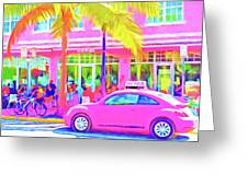 South Beach Pink Greeting Card