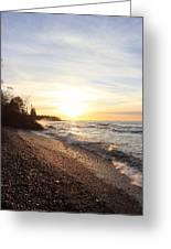 South Beach Sunset Greeting Card