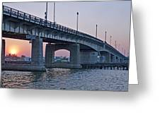 South Capitol Street Bridge Over Anacostia River In Washington Dc Greeting Card by Brendan Reals