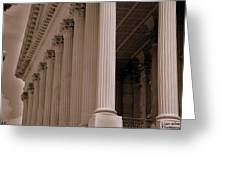 South Carolina State House Columns  Greeting Card