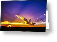 South Central Nebraska Sunset 008 Greeting Card
