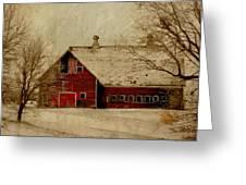 South Dakota Barn Greeting Card