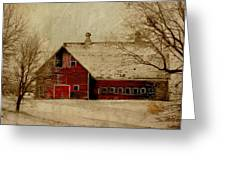 South Dakota Barn Greeting Card