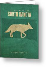 South Dakota State Facts Minimalist Movie Poster Art Greeting Card