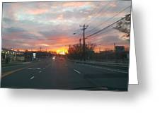 South End Sun Rise Greeting Card