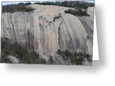 South Face - Stone Mountain Greeting Card