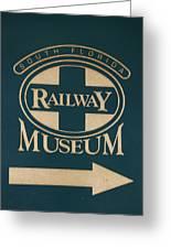South Florida Railway Museum Greeting Card