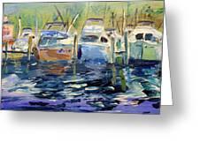 South Harbor Dawn Greeting Card