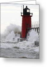South Haven Lighthouse 3 Greeting Card