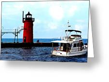 South Haven Michigan Lighthouse By Earl's Photography Greeting Card