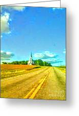 South Immanuel, On A Hill Far Away Greeting Card