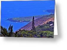 South Kona Coastline Greeting Card