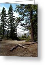 South Lake Tahoe Mountain Trail Greeting Card