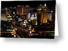 South Las Vegas Strip Greeting Card by James Marvin Phelps