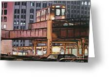South Loop El Greeting Card