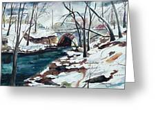 South Main Street Bridge Greeting Card