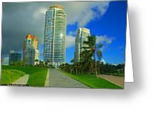 South Miami Beach Greeting Card