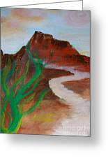 South Mountain Sunset Impression Greeting Card