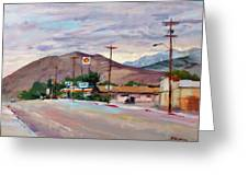 South On Route 395, Big Pine, California Greeting Card