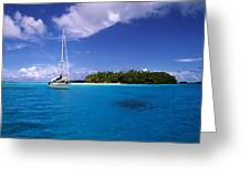South Pacific Anchorage Greeting Card