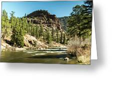 South Platte In Heavy Spring Flows And Wind Greeting Card
