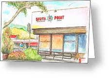 South Point Restaurant, West Hollywood, California Greeting Card