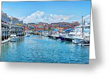 South Portland Harbor Greeting Card