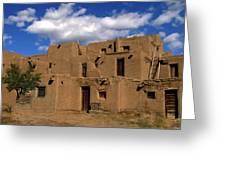South Pueblo Taos Greeting Card