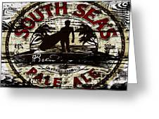 South Seas Pale Ale Sign Greeting Card