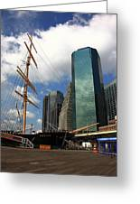 South Street Seaport - New York City Greeting Card