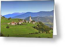 South Tyrolean Panorama Above Bolzano. Greeting Card