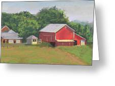 South View Of Meyer Farm Greeting Card