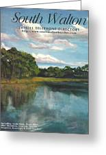 South Walton Telephone Directory Cover Art Greeting Card