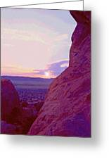 Southeastern Utah Sunset 3 Greeting Card