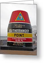 Southermost Point Of U. S. A. Buoy Marker Greeting Card
