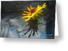 Southern Blue Jean Pocket Greeting Card