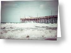 Southern California Pier Vintage 1950s Picture Greeting Card by Paul Velgos