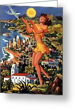 Southern California - United Air Lines - Retro Travel Poster - Vintage Poster Greeting Card