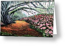 Southern Charm Oak And Azalea Greeting Card