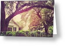 Southern Home #house  #coastalbeauty Greeting Card